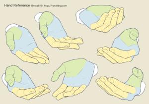 ポーズ 手 を 組む 表情豊かな手を描く